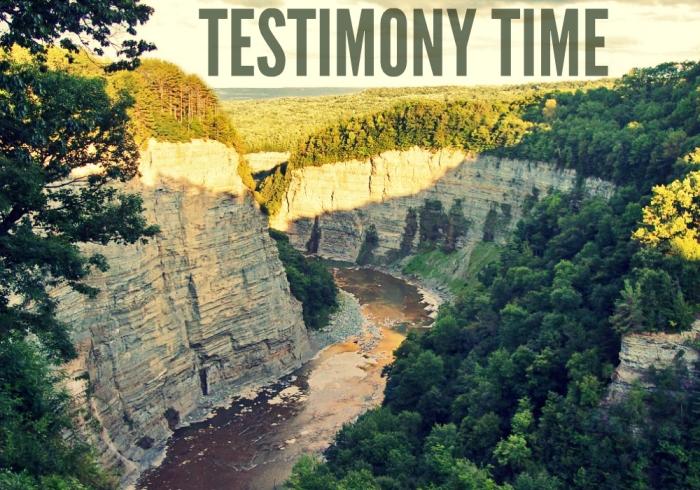 Testimony Time