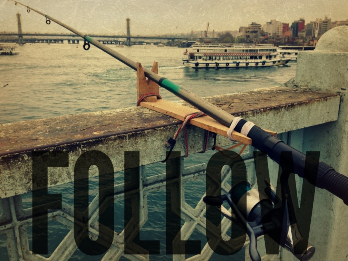 Galata Bridge fishing