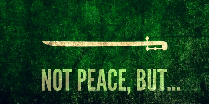 Not peace but